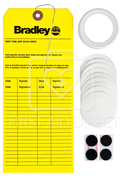 BRADLEY, REFILL KIT (9-LINERS, 1-CAP, 1-INSPECTION TAG)