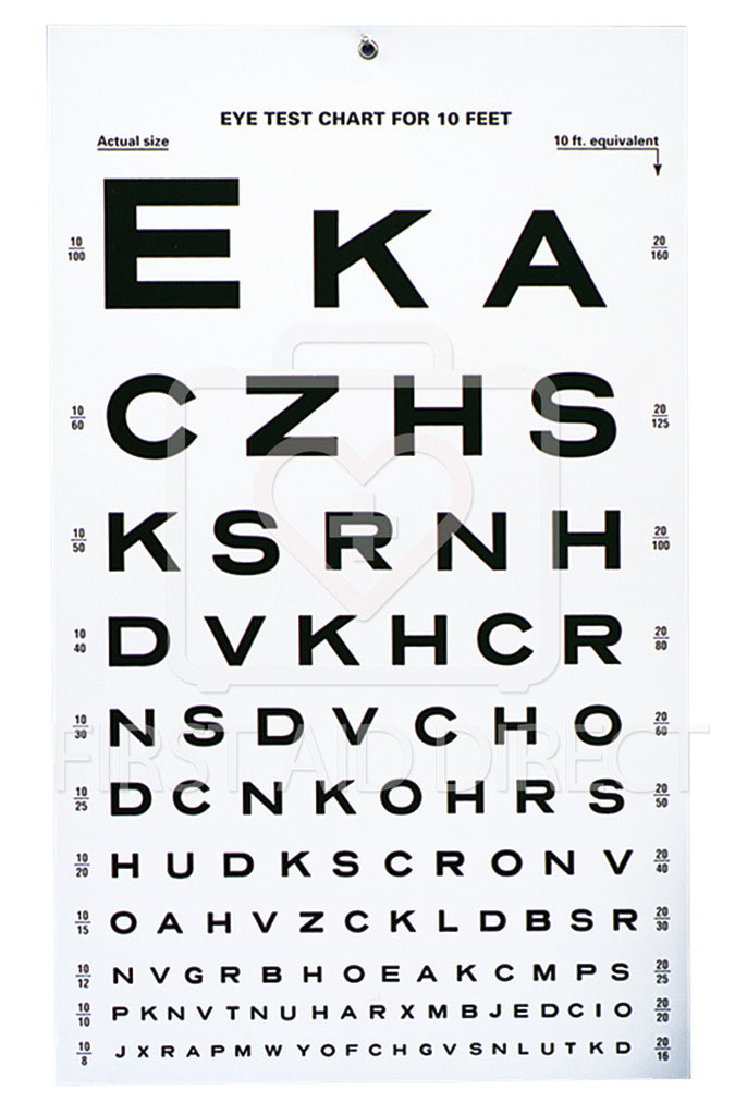 EYE TEST CHART, SNELLEN