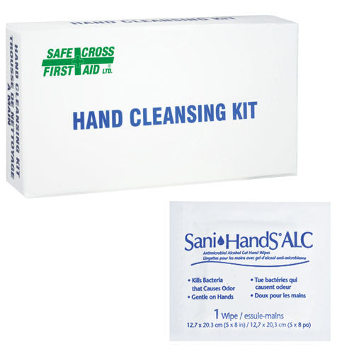 SANI-HANDS, ALCOHOL GEL HAND TOWELETTES, 12's