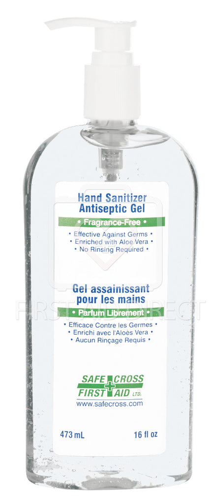 HAND SANITIZER, ANTISEPTIC GEL, 473 mL