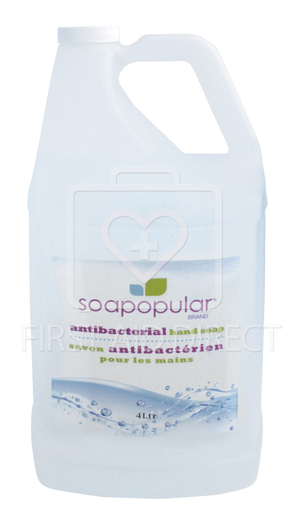 SOAPOPULAR, ANTIBACTERIAL HAND SOAP, 4 L REFILL FOR ITEM 06199