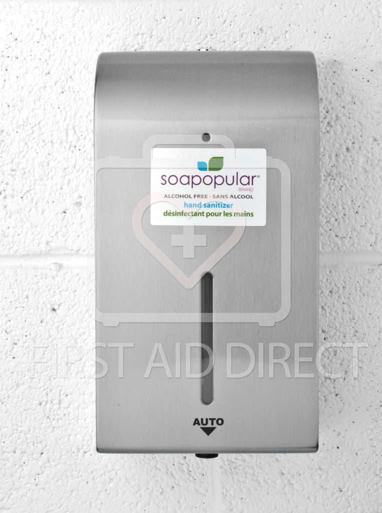 SOAPOPULAR, STAINLESS STEEL WALL DISPENSER FOR HAND SANITIZER ITEM 06225