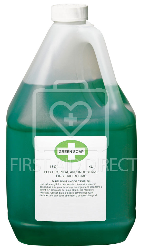 GREEN SOAP, ANTISEPTIC CLEANSER, 4 L