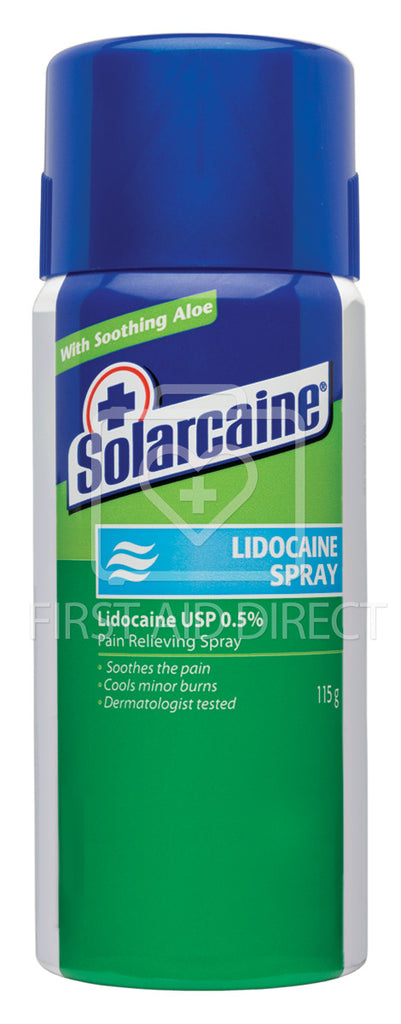 SOLARCAINE, FIRST AID LIDOCAINE SPRAY, 115 g
