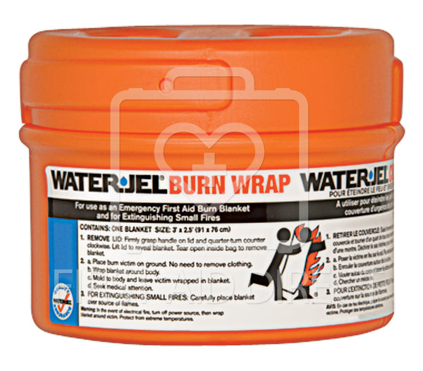 WATER-JEL, BURN WRAP/EXTINGUISHER IN CANISTER, 76.2 x 91.4 cm