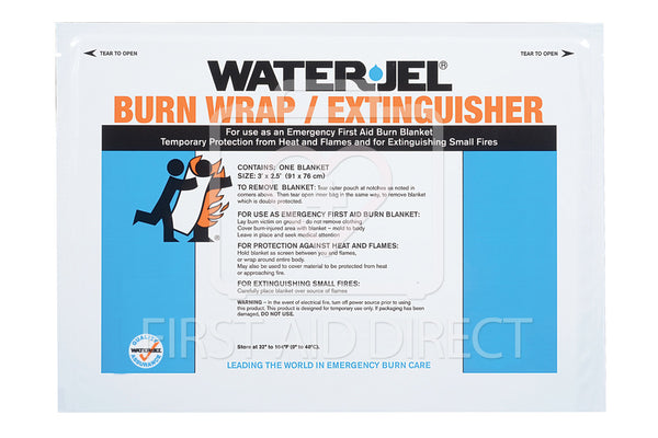 WATER-JEL, BURN WRAP/EXTINGUISHER, 76.2 x 91.4 cm, POUCH