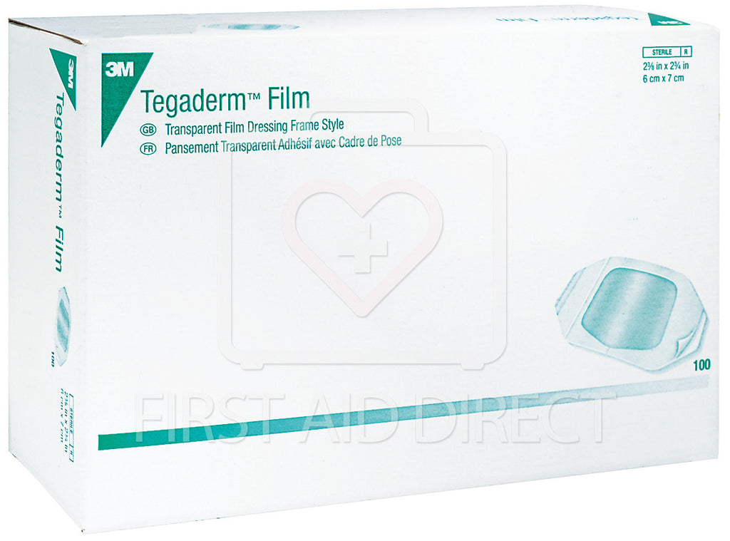 TEGADERM, TRANSPARENT FILM DRESSINGS, 6 x 7 cm, 100's