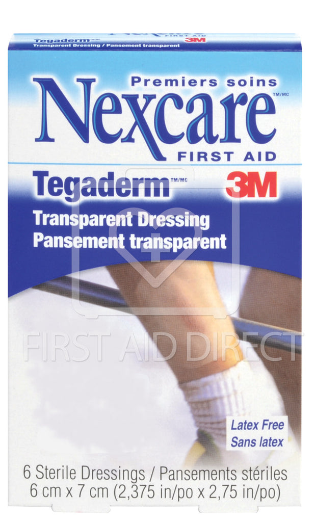 TEGADERM, TRANSPARENT FILM DRESSINGS, 6 x 7 cm, 6's