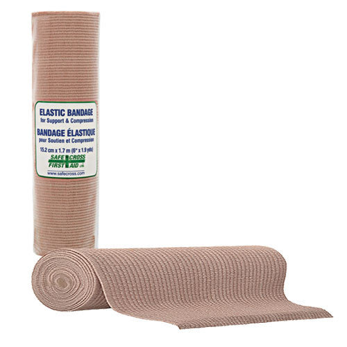 ELASTIC SUPPORT/COMPRESSION BANDAGE, 15.2 cm x 1.7 m