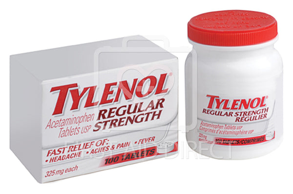 TYLENOL, ACETAMINOPHEN TABLETS, REGULAR-STRENGTH, 325 mg, 100's