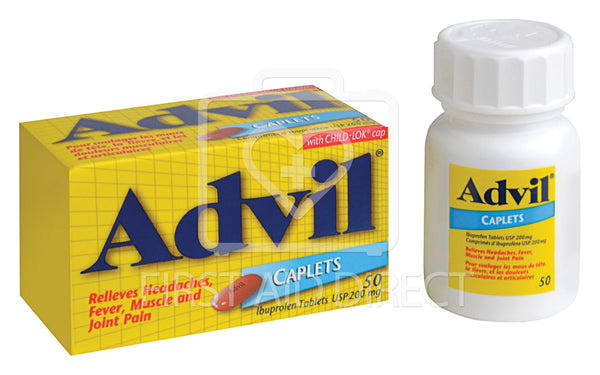 ADVIL, IBUPROFEN CAPLETS, 200 mg, 50's