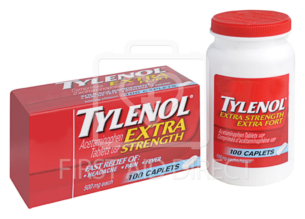 TYLENOL, ACETAMINOPHEN CAPLETS, EXTRA-STRENGTH, 500 mg, 100's