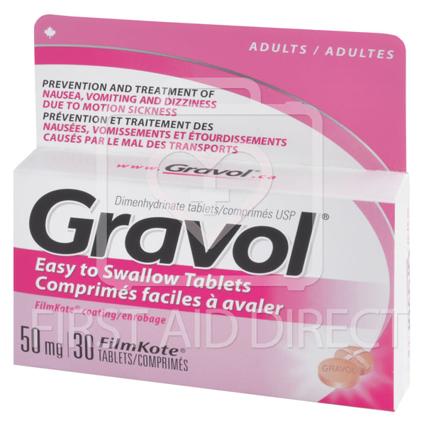 GRAVOL, TABLETS, 50 mg, 30's