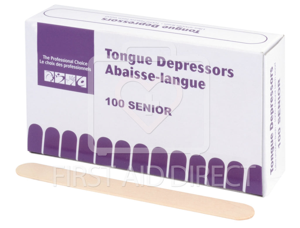 TONGUE DEPRESSORS, SENIOR, 1.9 x 15.2 cm, 100's