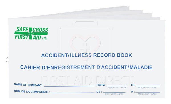 ACCIDENT/ILLNESS RECORD BOOK, SMALL