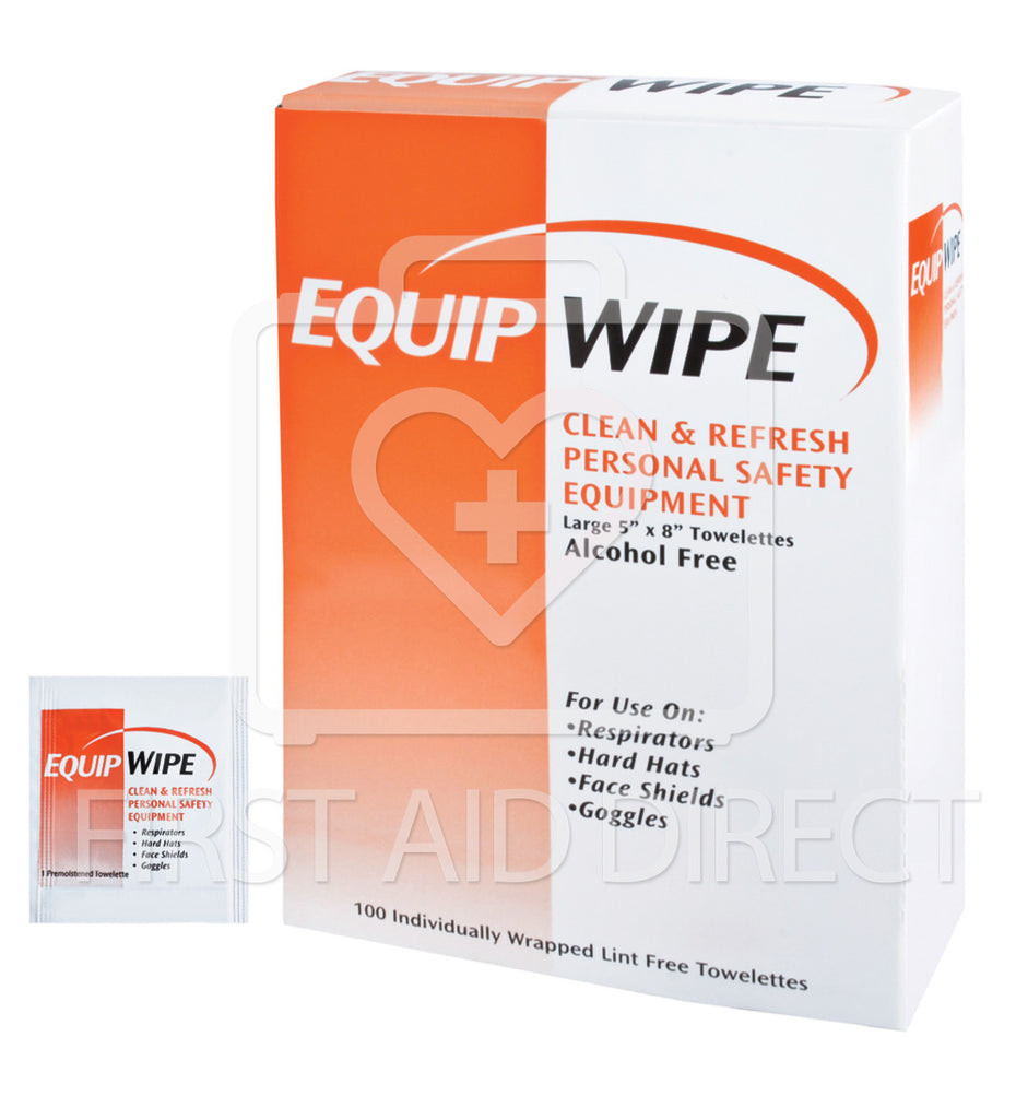 EQUIPMENT WIPE TOWELETTES, 100's