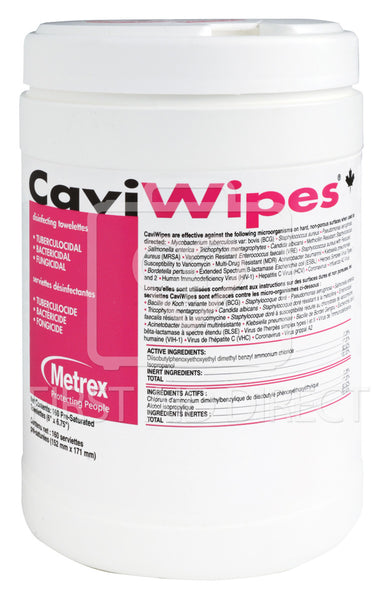 CAVIWIPES, SURFACE DISINFECTANT/CLEANER, CANISTER, 160's