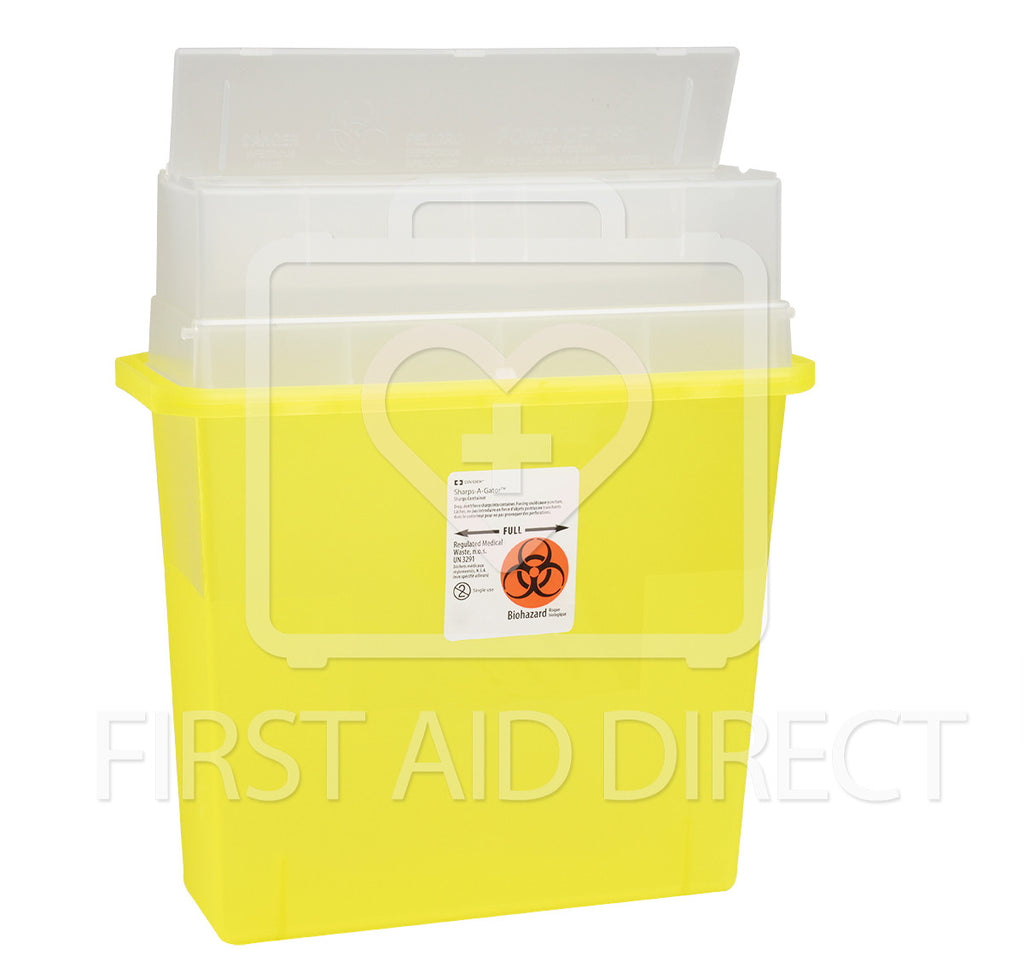SHARPS/BIOHAZARD COLLECTOR, 5 L