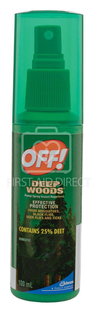 OFF! DEEP WOODS, INSECT REPELLENT, 25% DEET, 100 mL, SPRAY PUMP