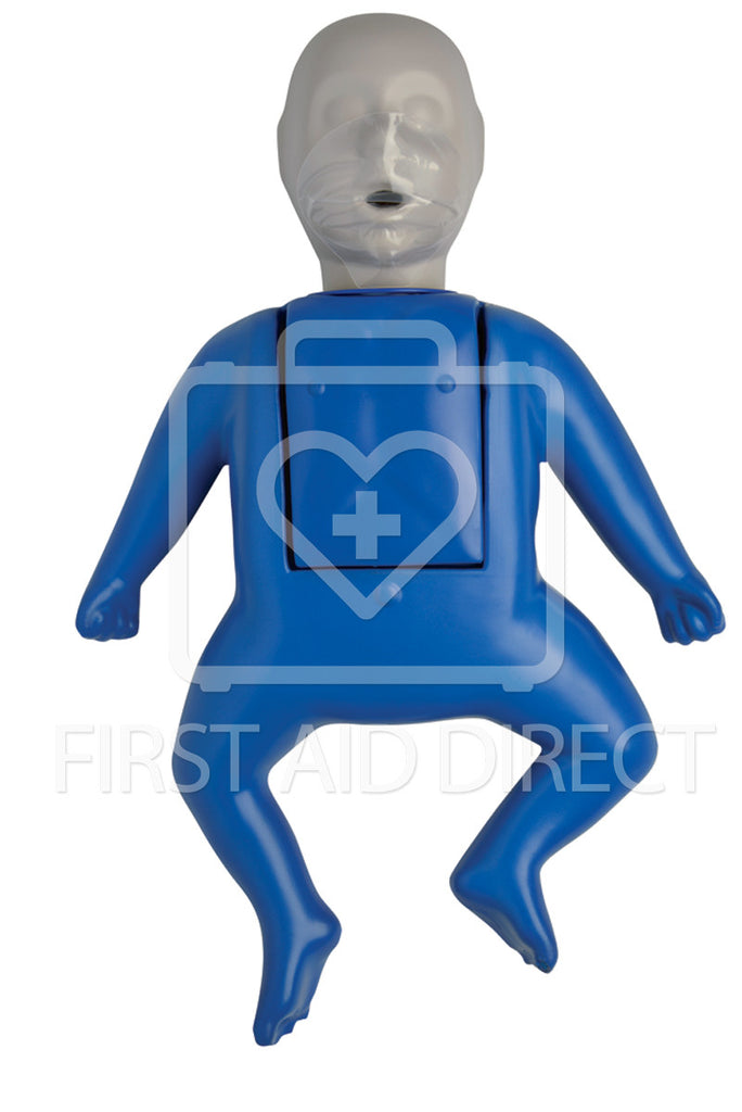 CPR PROMPT, TRAINING MANIKIN, INFANT, w/10 FACE SHIELD/LUNG BAGS