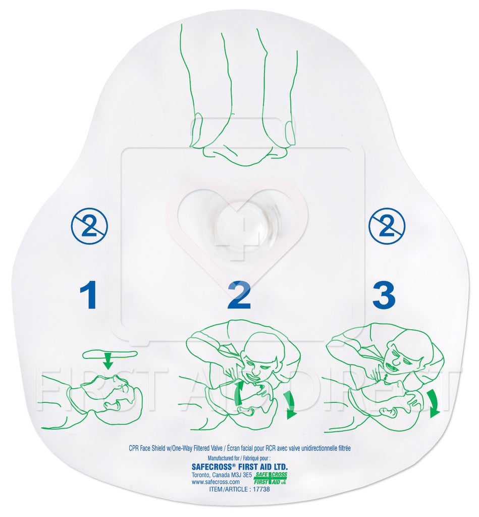 CPR FACE SHIELD, w/ONE-WAY FILTERED VALVE