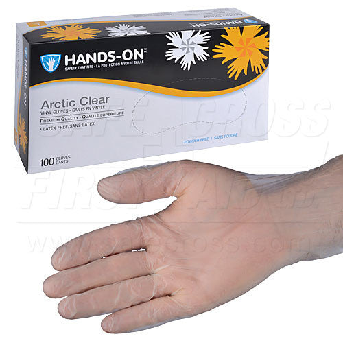VINYL, MEDICAL EXAMINATION GLOVES, POWDER-FREE, EXTRA-LARGE, 100's