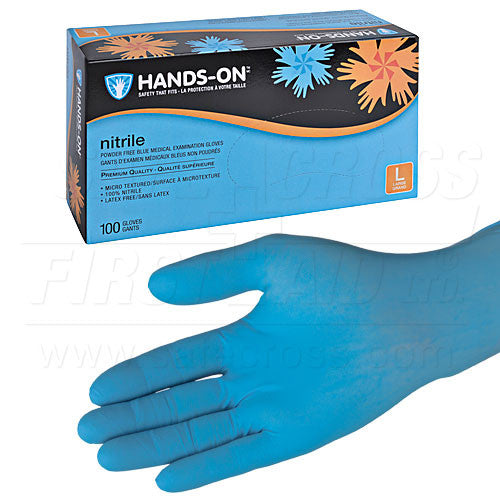 NITRILE, MEDICAL EXAMINATION GLOVES, POWDER-FREE, LARGE, 100's
