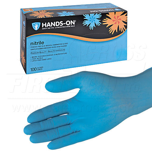NITRILE, MEDICAL EXAMINATION GLOVES, POWDER-FREE, EXTRA-LARGE, 100's