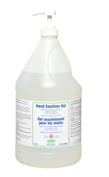 1 GALLON HAND SANITIZER GEL (3.78 L) (PUMP SOLD SEPARATELY)