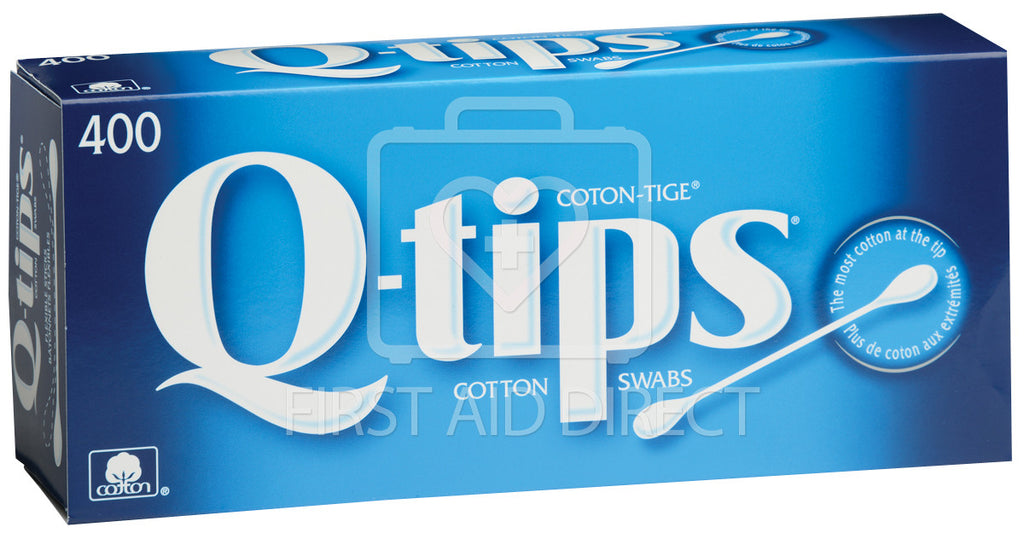 "COTTON TIPPED SWABS, 7.6 cm, DOUBLE-END, ""Q-TIPS"", 400's"