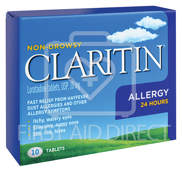 CLARITIN, ALLERGY TABLETS, NON-DROWSY, 10's