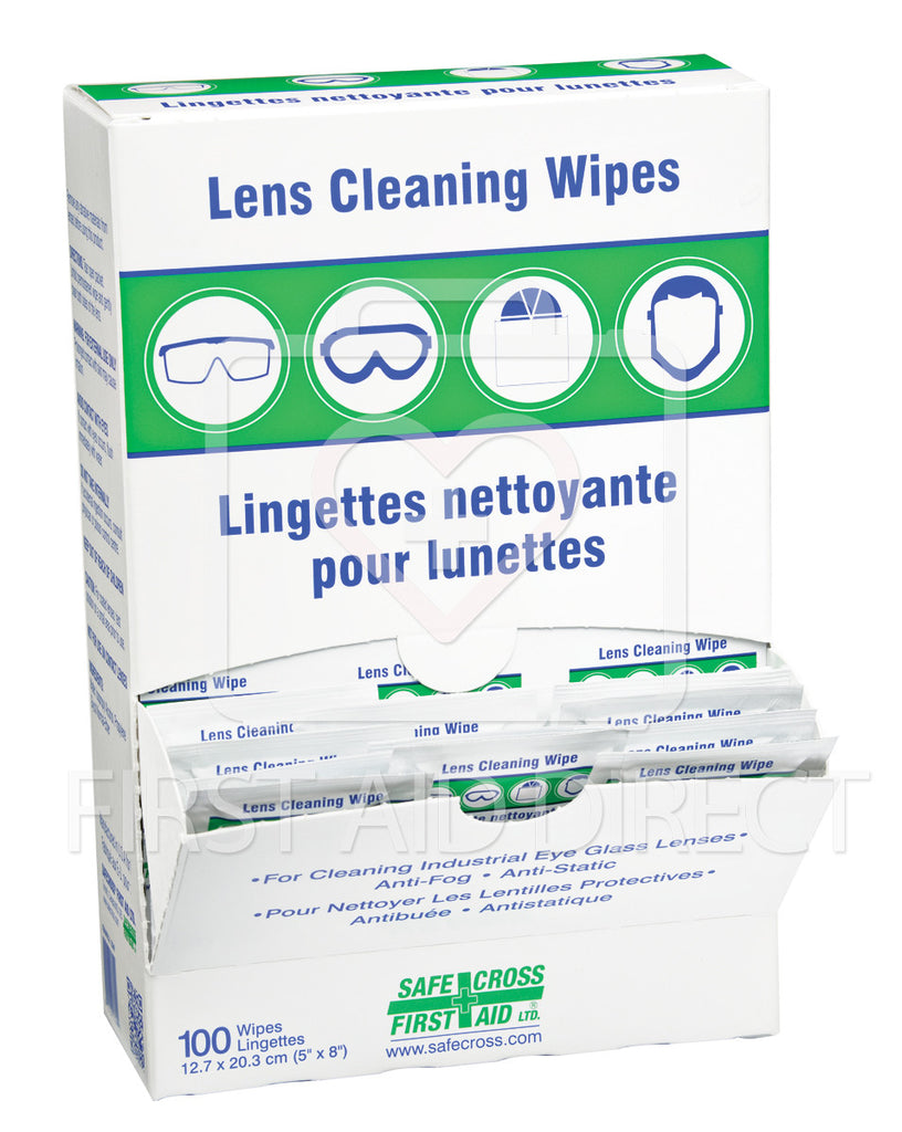 LENS CLEANING TOWELETTES, 100's