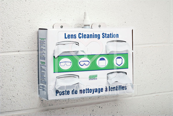 LENS CLEANING STATION w/1x500 mL CLEANER & 4x300 TISSUES, CORRUGATE