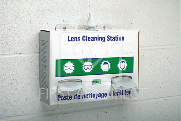 LENS CLEANING STATION w/1x500 mL CLEANER & 2x300 TISSUES, CORRUGATE