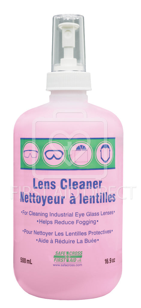 LENS CLEANING SOLUTION, 500 mL (BOSTON ROUND), SPRAY PUMP