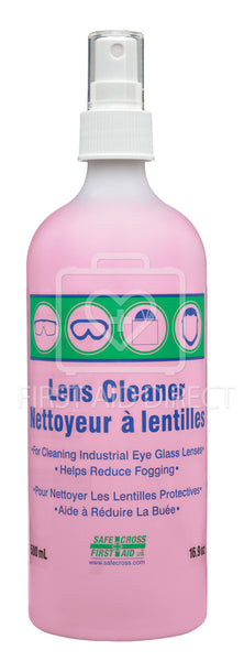 LENS CLEANING SOLUTION, 500 mL (FITS ALL SAFECROSS STATIONS), SPRAY PUMP
