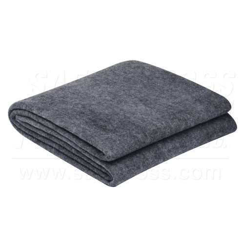 BLANKET, 50% WOOL, GREY, 152.4 x 213.4 cm