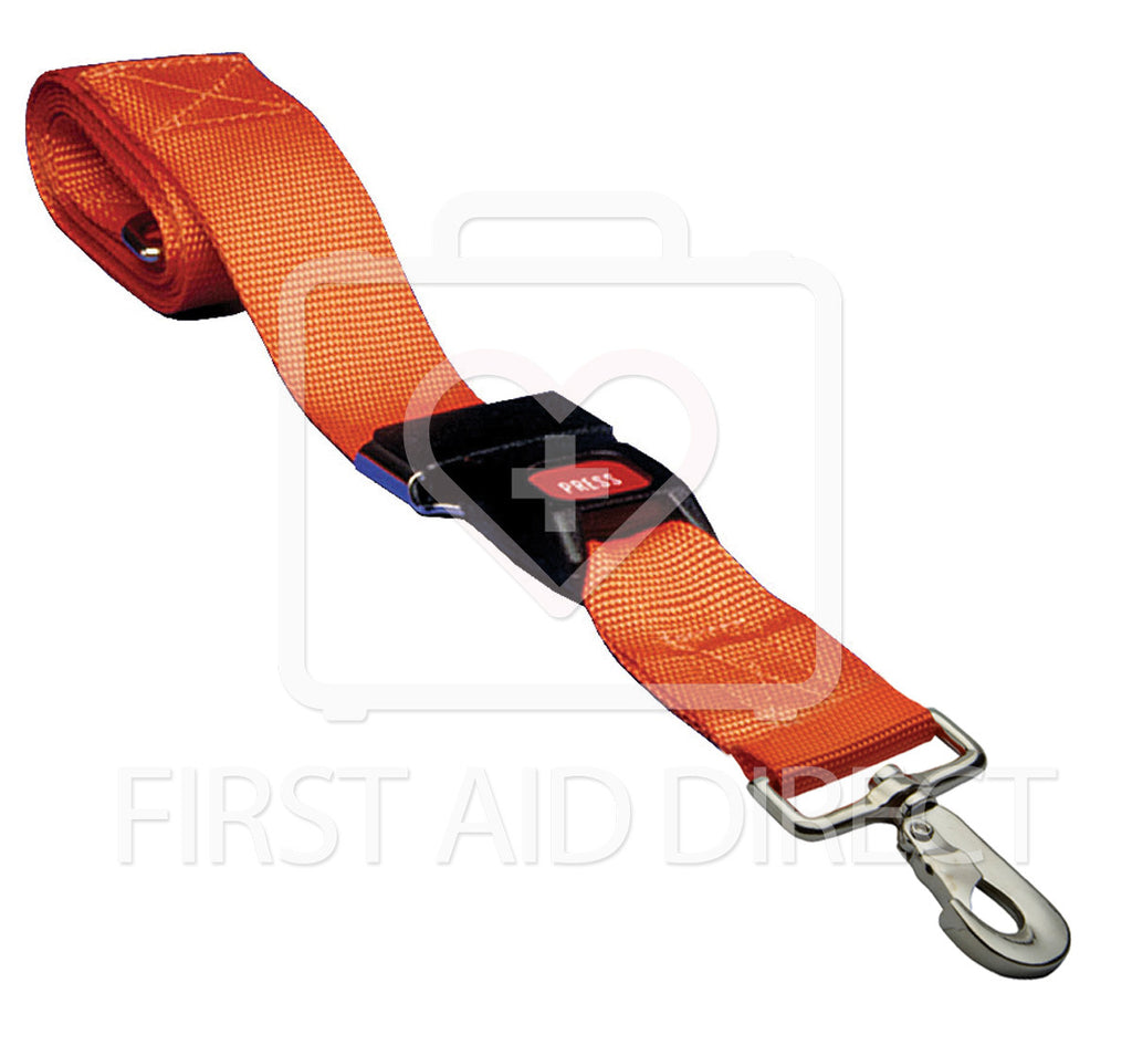 RESTRAINT STRAP w/SWIVEL SPEED CLIP & AUTOMOTIVE-TYPE BUCKLE, 5.1 x 152.4 cm