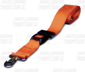 RESTRAINT STRAP w/SWIVEL SPEED CLIP & AUTOMOTIVE-TYPE BUCKLE, 5.1 x 213.4 cm