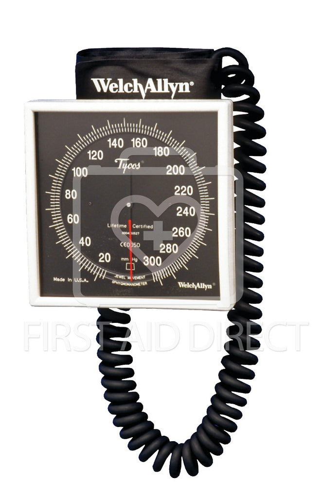 SPHYGMOMANOMETER, ANEROID, WELCH ALLYN, WALL-MOUNTED w/ADULT CUFF