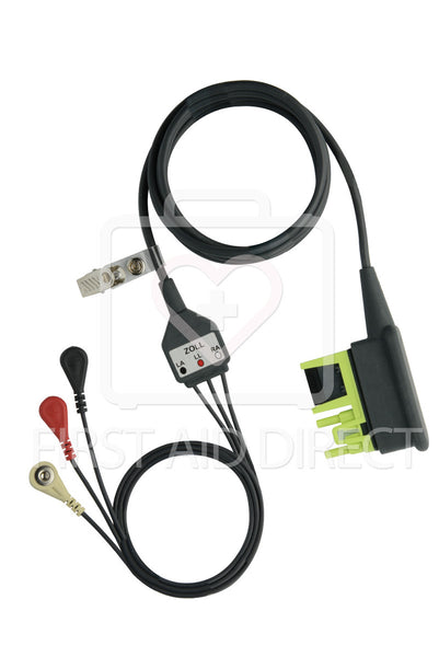 AED, ZOLL, AED PRO, ECG CABLE, 3 WIRE