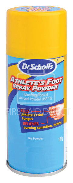 DR. SCHOLL'S, ATHLETE'S FOOT POWDER, 100 g, SPRAY