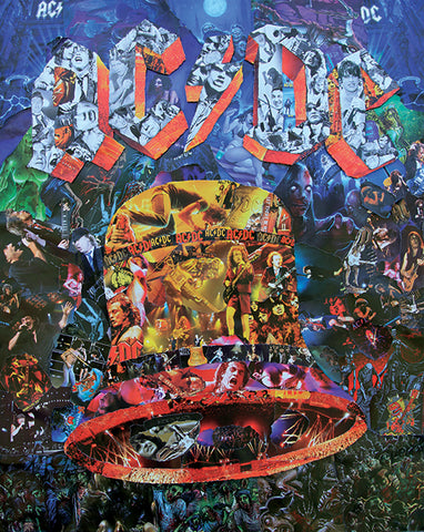 AC-DC Collage Poster - multymedia