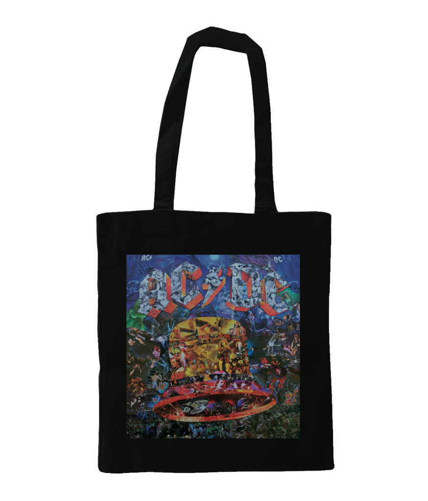 AC/DC Hells Bells Collage Tote Bag - multymedia