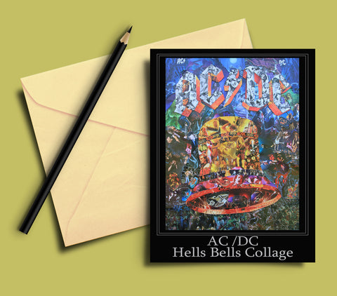 AC/DC Hells Bells Greeting card - multymedia
