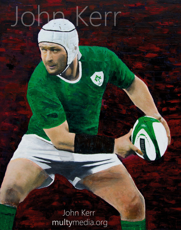Rory Best Oil Painting - multymedia