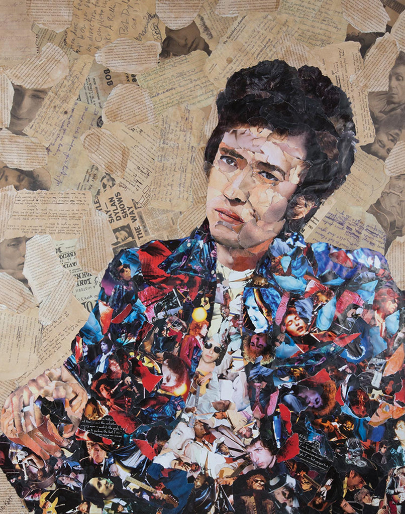Bob Dylan Collage Poster - multymedia