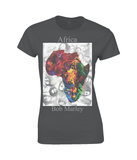 Bob Marley Africa Collage Womens T Shirt
