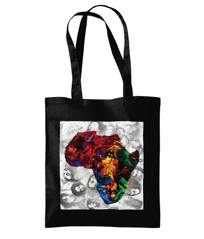 Bob Marley Africa Collage Tote Bag - multymedia