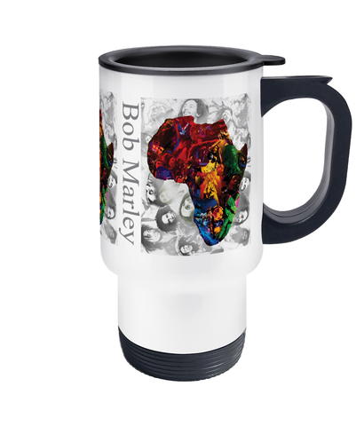Bob Marley Africa Collage Travel Mug 14oz - multymedia